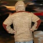 Куртка из собачьей шерсти усиленная вельветовыми накладками